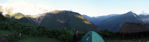 Campement à Maizal, pas mal !