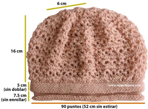 boina punto peruano slouchy knit beret
