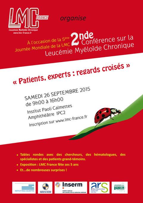 conference lmc france journee mondiale leucemie myeloide chronique world cml day 9/22 22/9 france IPC institut paoli calmettes marseille patient expert regards croisés