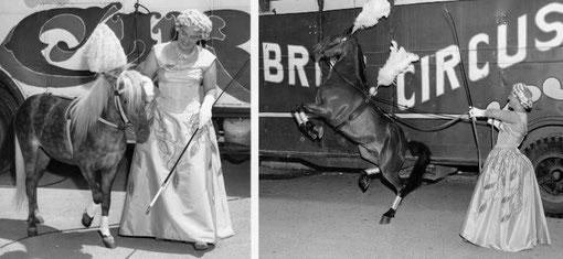 Elfi Althoff-Jacobi im Circus Rudy Bros in Amerika 1963