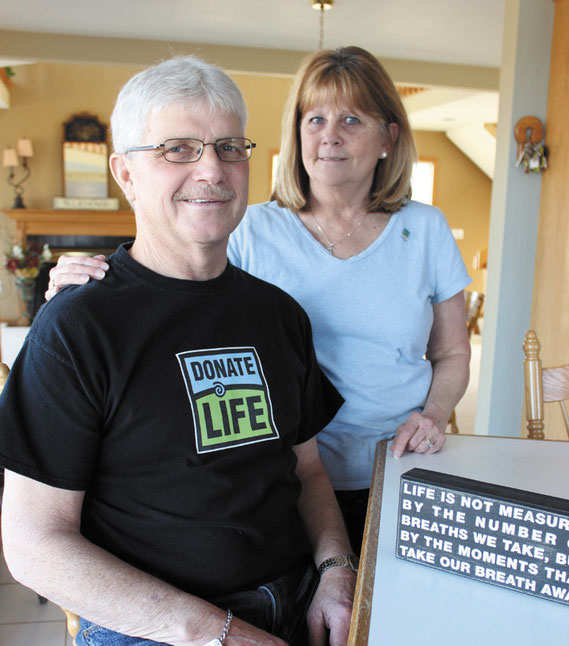 Rick Klemme and his wife Joan are marking nearly one year since Rick underwent a double lung transplant. They are encouraging local residents to get on the donor registry.