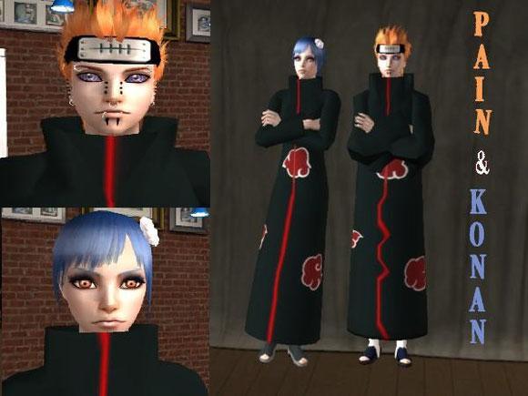 *NEW* Pain & Konan from Akatsuki downloadable under Naruto section