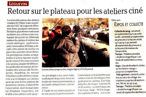 """Article paru dans """"La Dépêche du Midi"""" le 18 septembre 2013"""