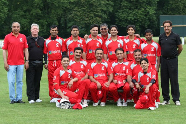 The Swiss T20 national side with officials