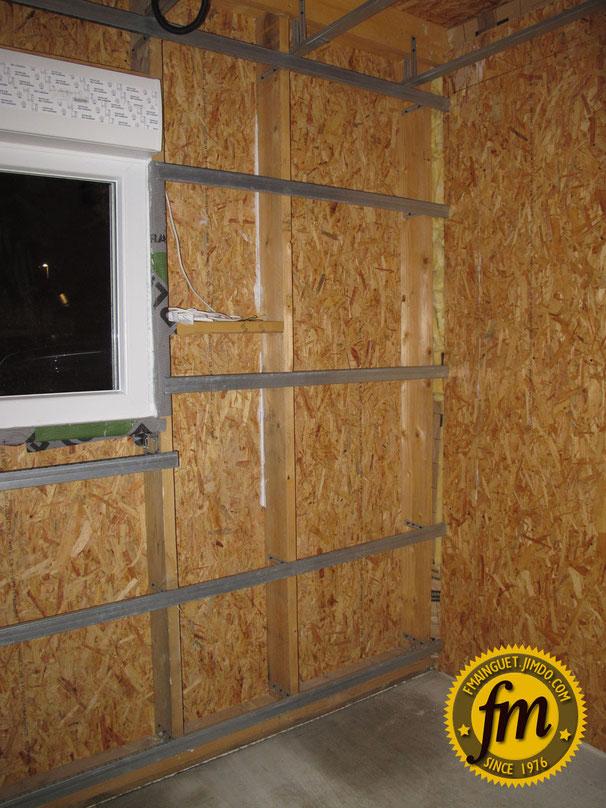 Pose de la membrane for Extension maison osb