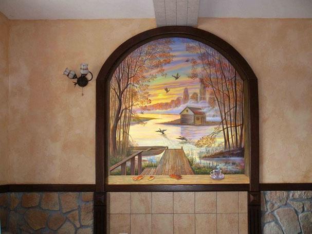 Что такое роспись стен описание