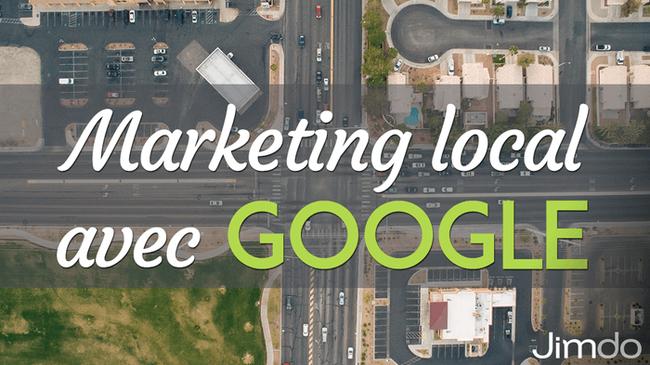 """Capture d'écran de Google Maps portant la mention """"Marketing local avec Google""""."""