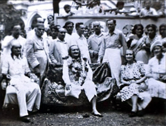 1940s - Surat, India : Norina is seated in the front next to Elizabeth Patterson
