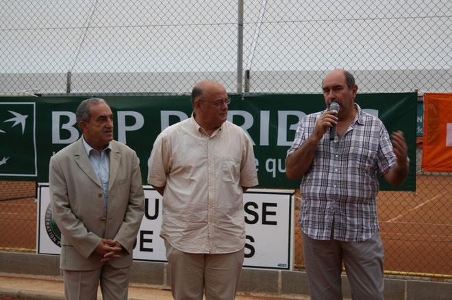 Jean Gachassin, Bernard Guidicelli et Jean-Baptiste Benjamin : Tennis gagnant avec l'ASPTT d'Ajaccio