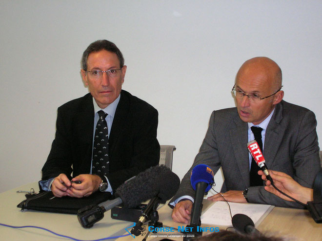 Eric Arella et Xavier Bonhomme. (Photo Marilyne Santi)