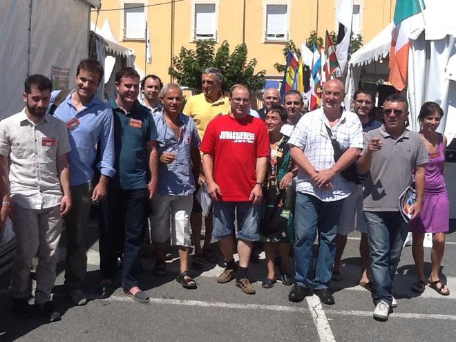 les différentes délégations basques, sardes, irlandaises et catalognes aux Ghjurnate di Corti. (Photos Nicole Mari)