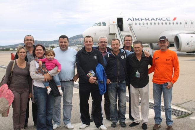 Quintais et Suchaud accueilis à l'aéroport