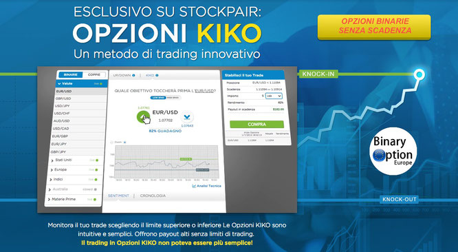 stockpair opzioni binari