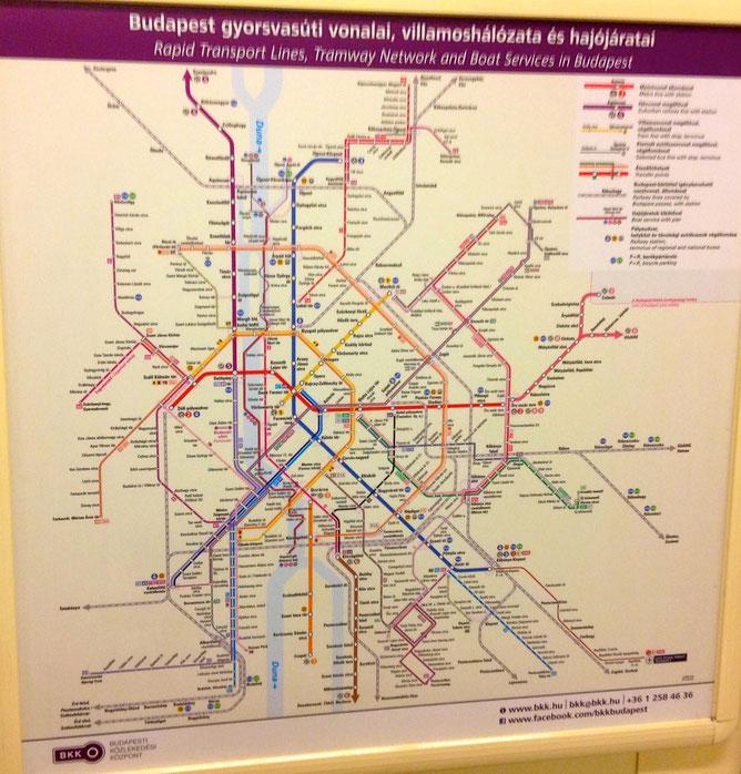 Транспортная схема Будапешта