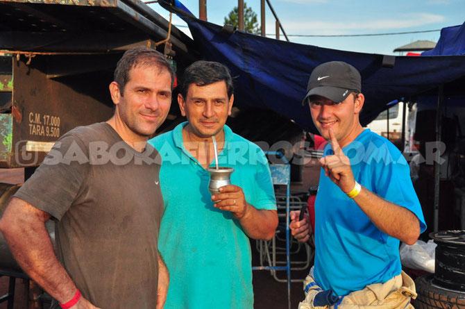 En la foto: Roberto Peralta, Jorge Prates y Martin Badaracco (izq. a dcha)