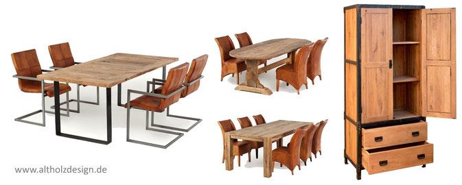 Tische und Möbel aus Altholz Eiche