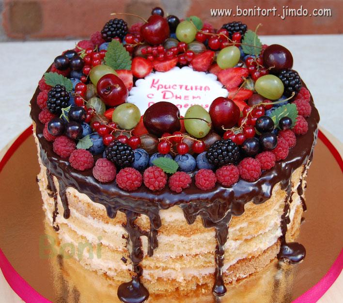 Торт с маскарпоне с фруктами рецепт