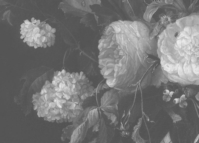Behang Op Maat Zwart Wit Bloemen Wp  Behangopmaat Com