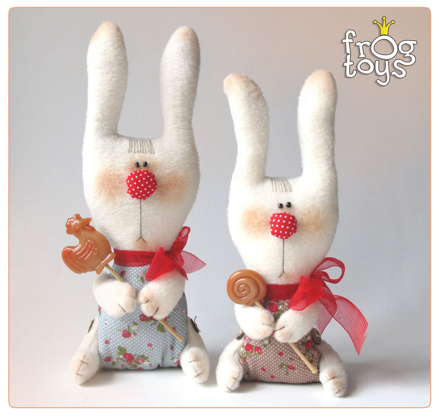 Текстильные зайцы своими руками