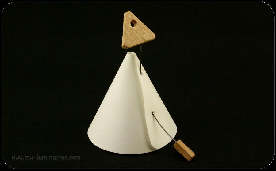 Luminaire Design Papier Bois Rosace
