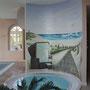 Wandmalerei im Wellnessbereich