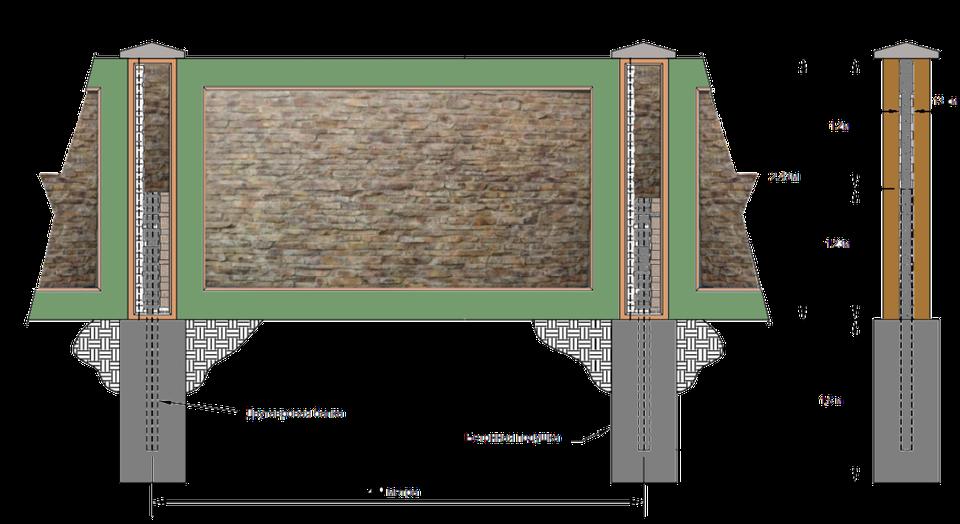 Устройство бетонного забора своими руками