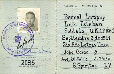 Carné de la UMAP del autor, Luis Bernal Lumpuy