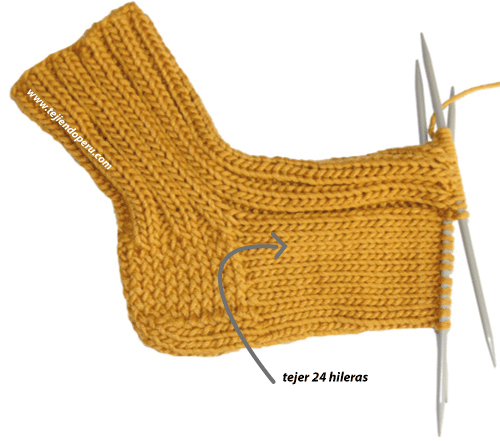 medias 4 agujas tejiendoperu