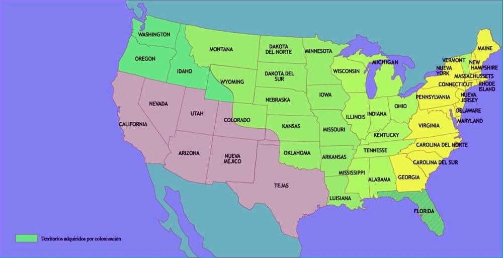 Los EE.UU. a mediados en 1840.