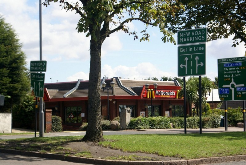 MacDonald's on the Chester Road. Photograph courtesy of Jo Gregory, Gunter School.