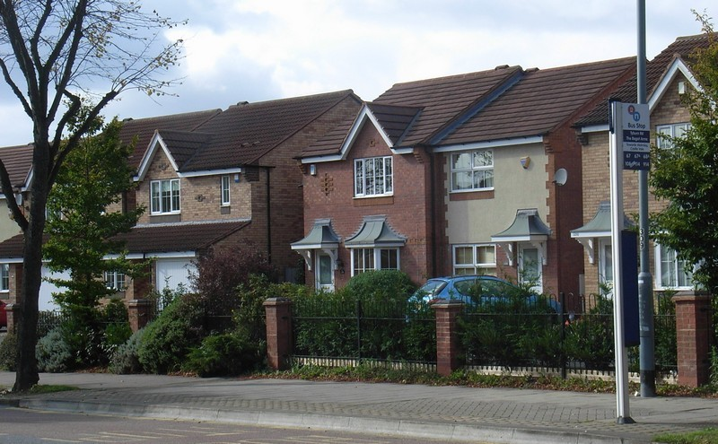 New housing on the Tyburn Road