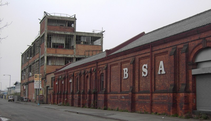 Armoury Road and the BSA photographed in 2008