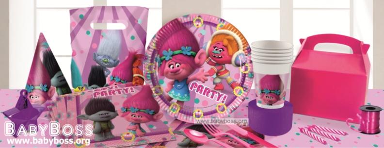 Одноразовая посуда тролли для детского дня рождения