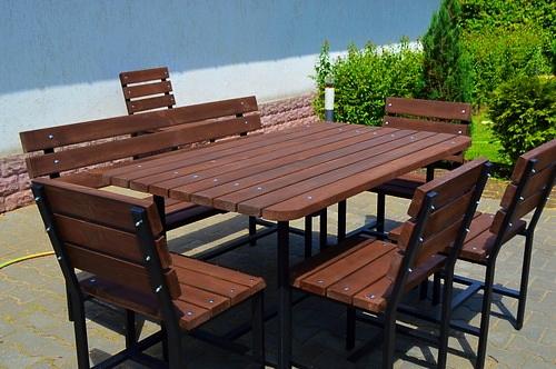 Садовые столы и стулья своими руками
