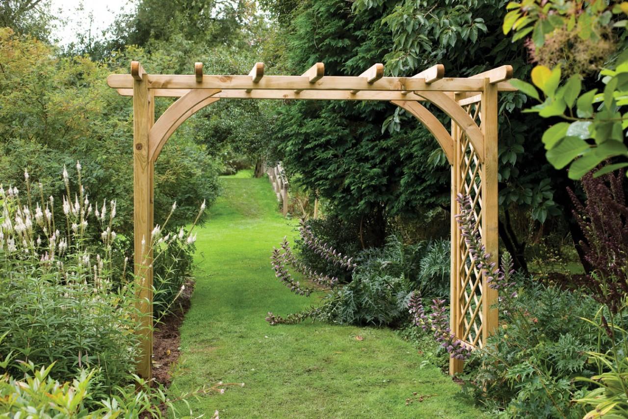 Как сделать деревянные садовые перголы своими руками: виды
