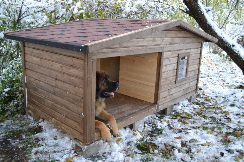 Будки деревянные для собак с утеплением,с вольером - Гравий,бутовый камень,валуны,грунт,торф,изделия из дерева - ДИЗАЙН КОМПЛЕКТ