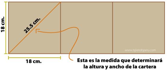 molde cartera tejida tejiendoperu.com