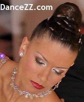 Макияж для бальных танцев с