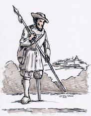 Historische Abbildung einer Prothese