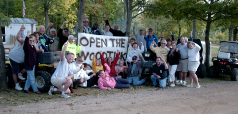 This is where it all started, in the fall of 2008, when residents and cabin owners discovered the Woodtick Trail had been closed to OHVs. Today the club has over 400 members!