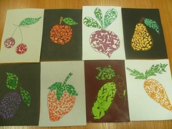 Поделка из бумаги на тему овощи и фрукты 113