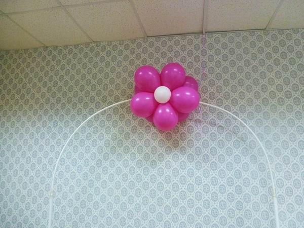 Как делается арка из шаров