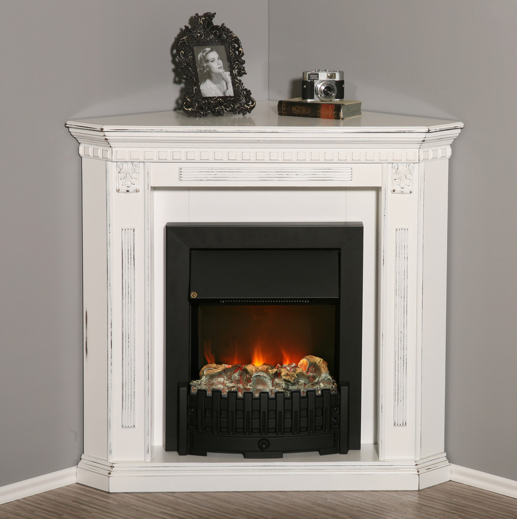 elektro eck kamin in brillantwei mit 3d flammeneffekt. Black Bedroom Furniture Sets. Home Design Ideas