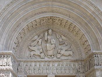 Portada occidental Saint Trophime, Arles, Francia.1100