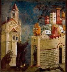 San Francisco expulsa de Arezzo a los demonios.Giotto.Basílica de San Francisco de Asís