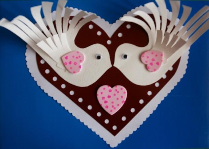 Как сделать открытки с днём святого валентина