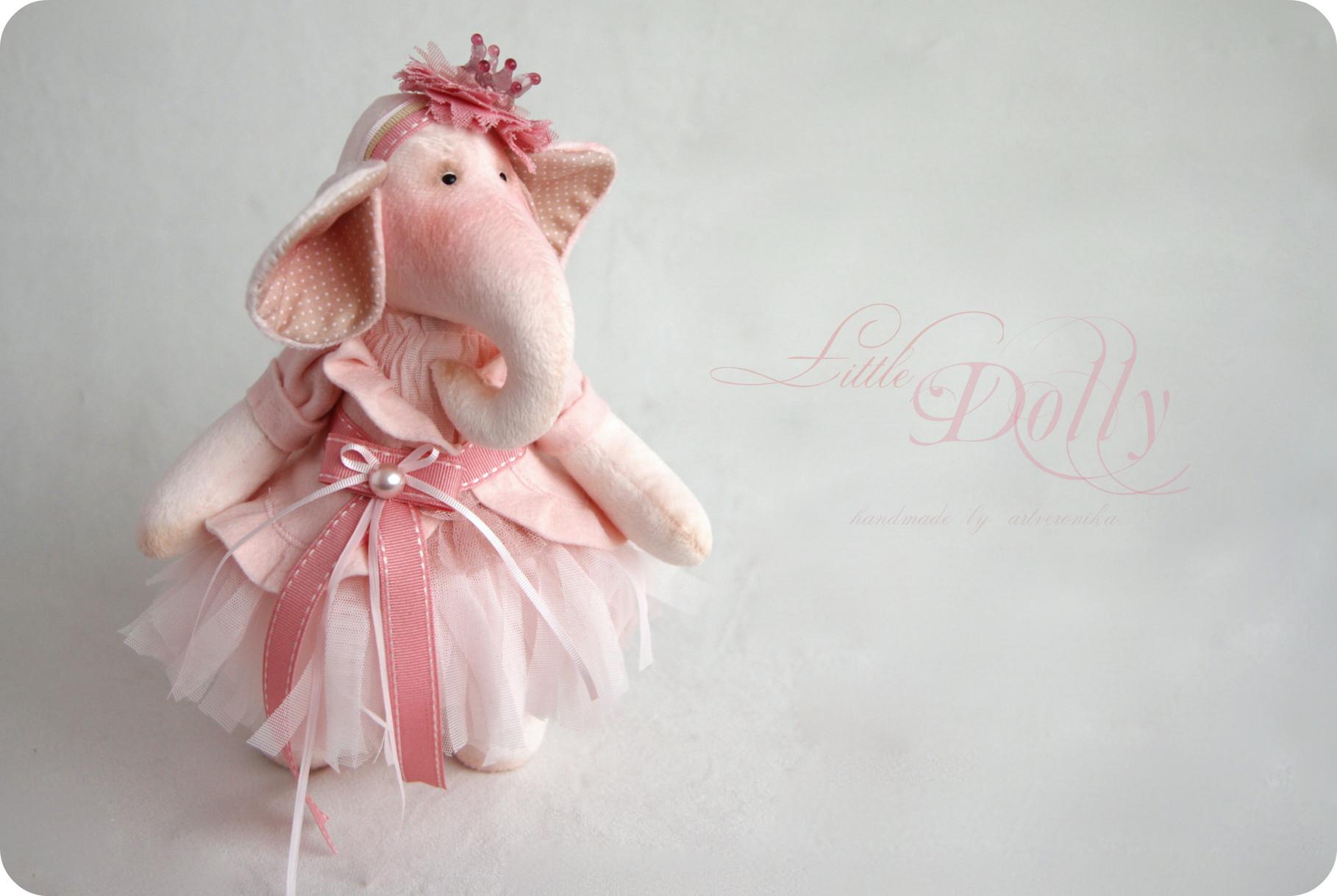 Розовая мягкая игрушка своими руками