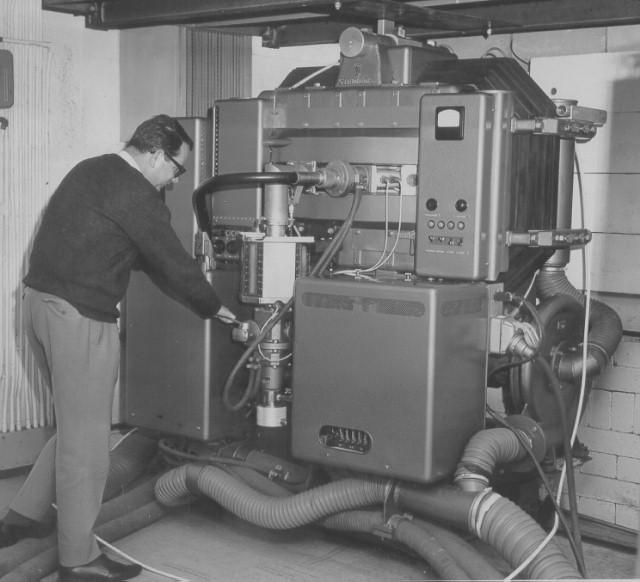 Photograph of initial Betatron installation. - Seimens - Germany
