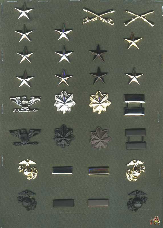 Еще раз хочу напомнить - это не должности, а военные звания