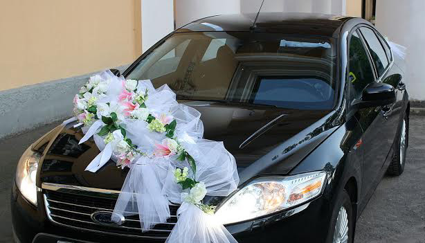Свадебные украшения на машины своими руками мастер класс